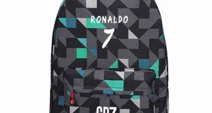 Teen Backpack School Bags Boys Teenagers Men Back Pack Ronaldo Bookbags Fashion ...
