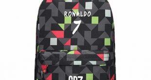 Teen Men Backpack School Bags Boys Teenagers Back Pack Ronaldo Bookbags Fashion Ronaldo Book Bags for Children SchoolBag