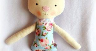 Weiche Puppe Bunny handgefertigte Ballerina Puppe Bunny Stoff