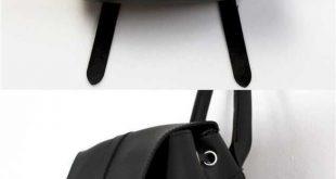 girl bookbags college bag school backpack for teens rucksack black leather backp...